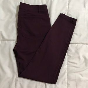 Maurices Plum Stretch Jeggings Sz M/Reg